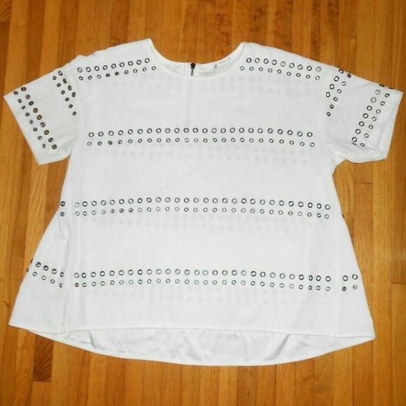 10 Crosby Derek Lam Tops - 10 Crosby Derek Lam Size Large Trapeze Top White